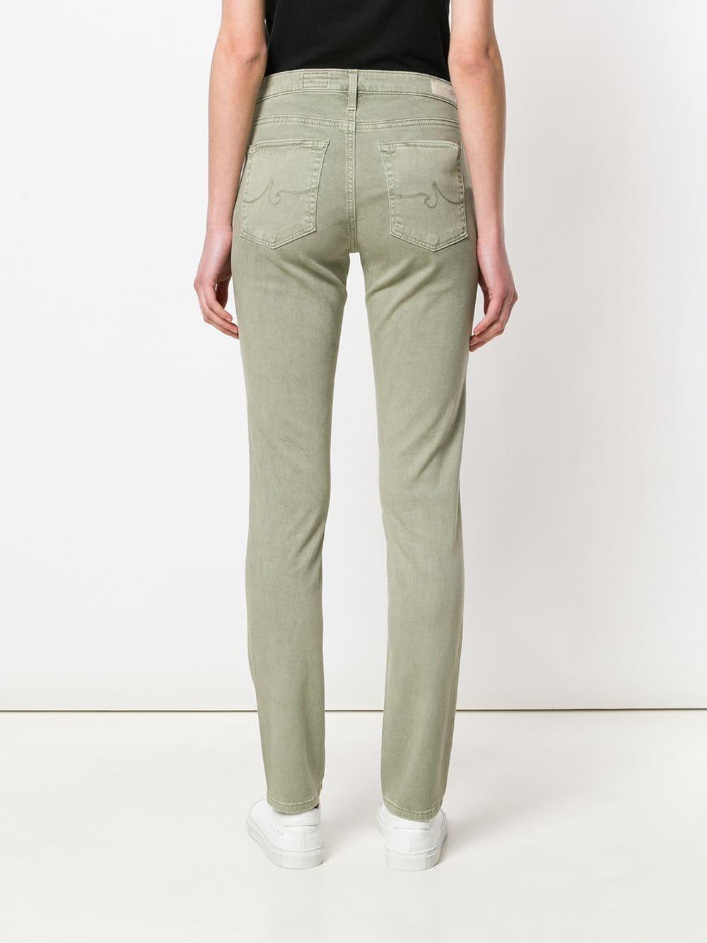 Vaqueros con corte slim AG Jeans de Denim de color Verde