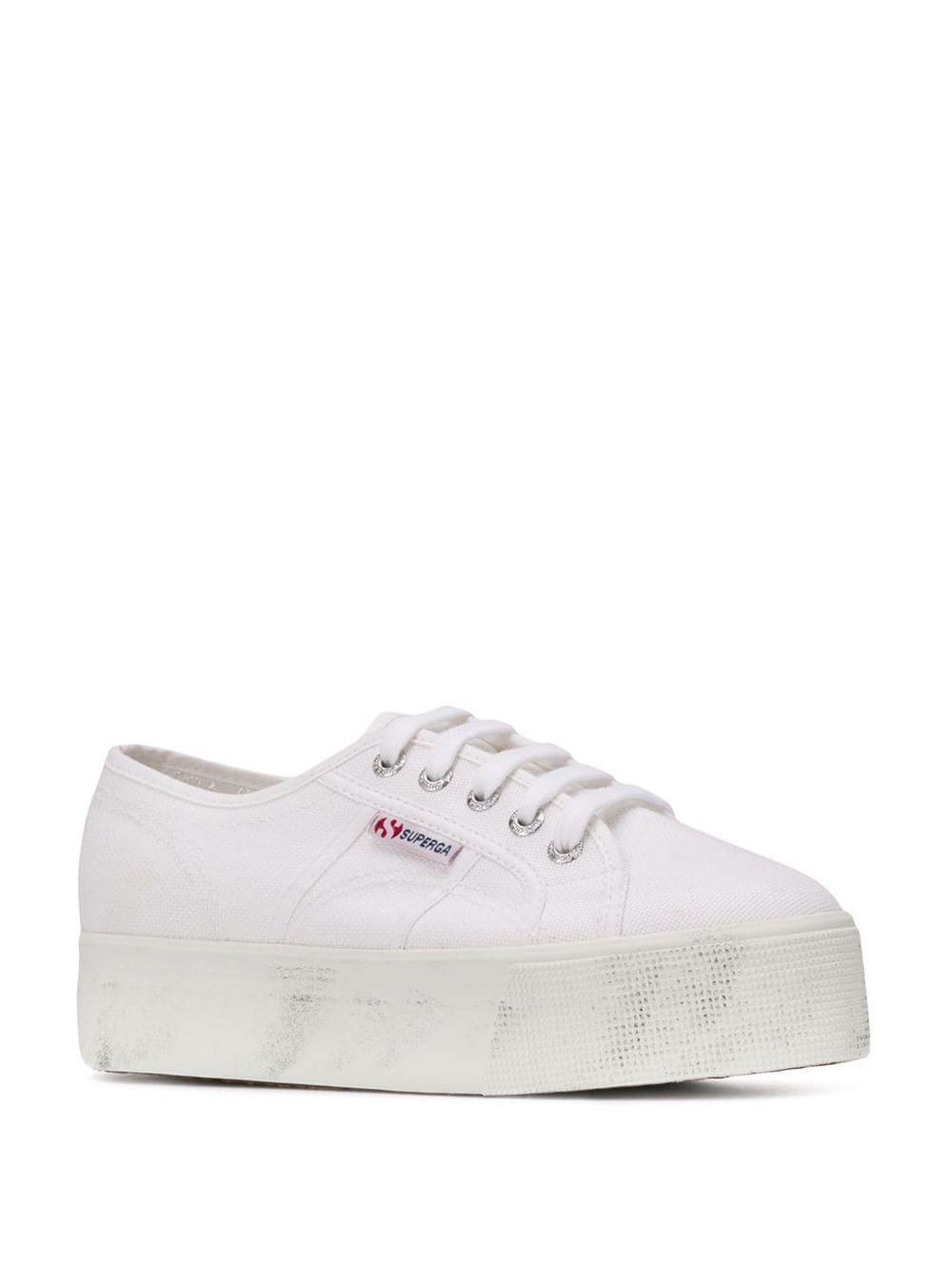 Zapatillas 2790 con suela de plataforma Superga de Algodón de color Blanco