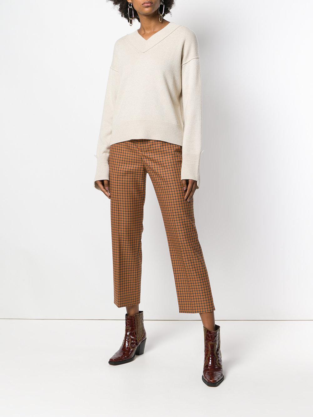 532e14db47f62 Helmut Lang - Natural V-neck Sweater - Lyst. View fullscreen