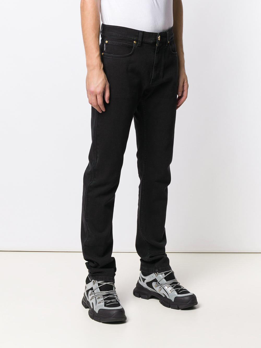 Versace Denim Straight Jeans in het Zwart voor heren