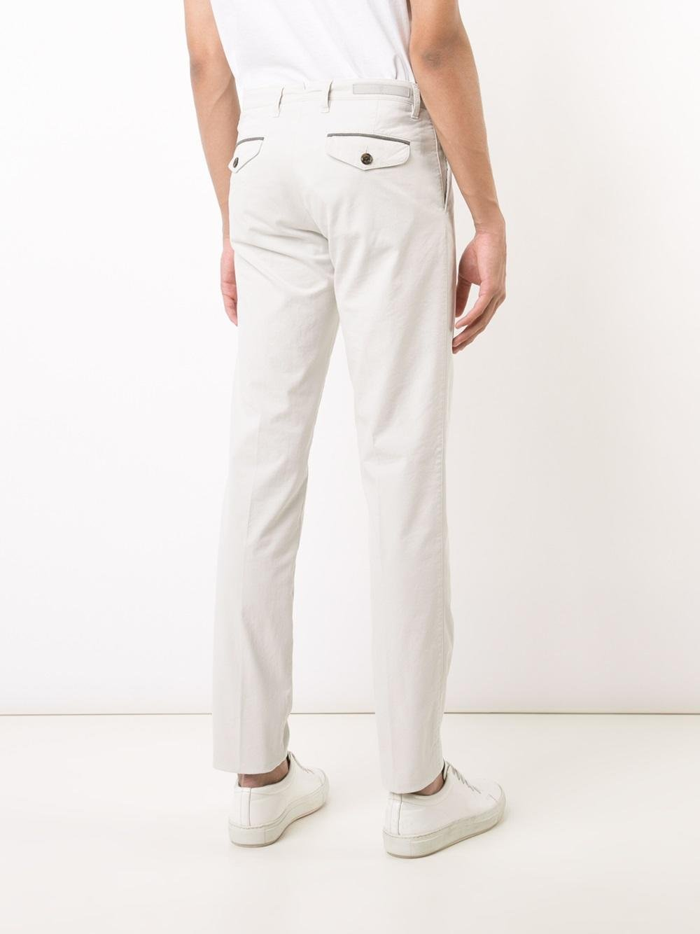 Eleventy Cotton Classic Straight-leg Trousers in Natural for Men