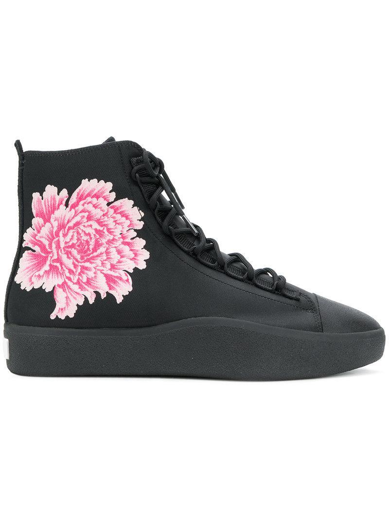 2018 Cheap Sale Discount Largest Supplier Y-3 x James Harden floral print slip-on sneakers - Black Yohji Yamamoto 61Ikagoj