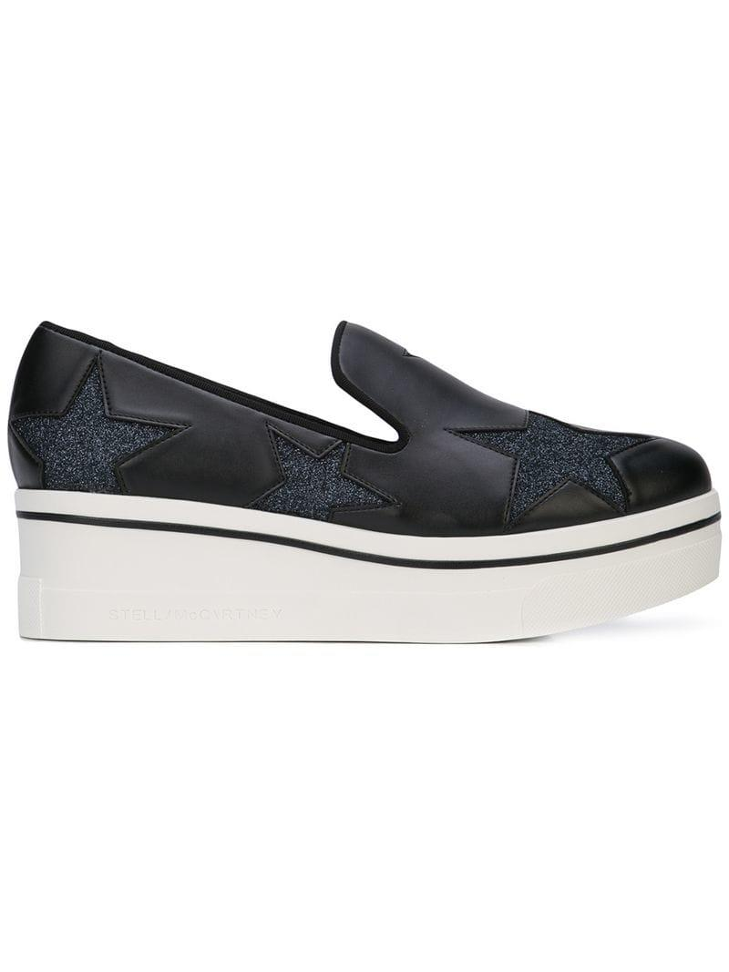 f5ac56be3d2 Lyst - Stella McCartney Star Binx Loafers in Black - Save ...
