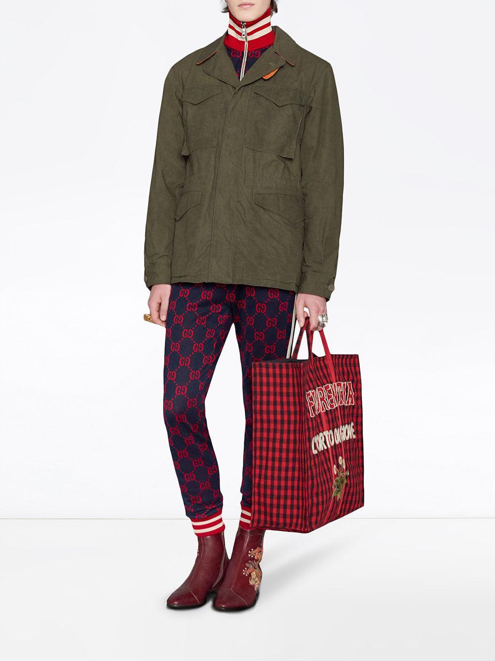 61a1be3b693 Lyst - Veste en coton jacquard GG Gucci pour homme en coloris Bleu