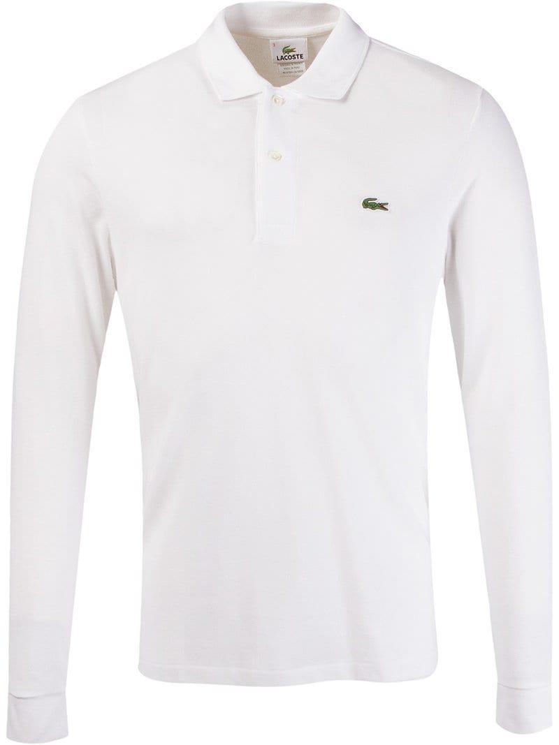 100% authentic 6a713 c0010 Lacoste Poloshirt mit Logo in Weiß für Herren - Lyst