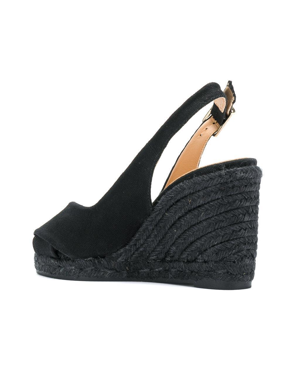 Clearance Hot Sale 2018 Newest Cheap Online Castaner Slingback platform wedge sandals Wholesale Online Outlet Locations Online SVBnQ