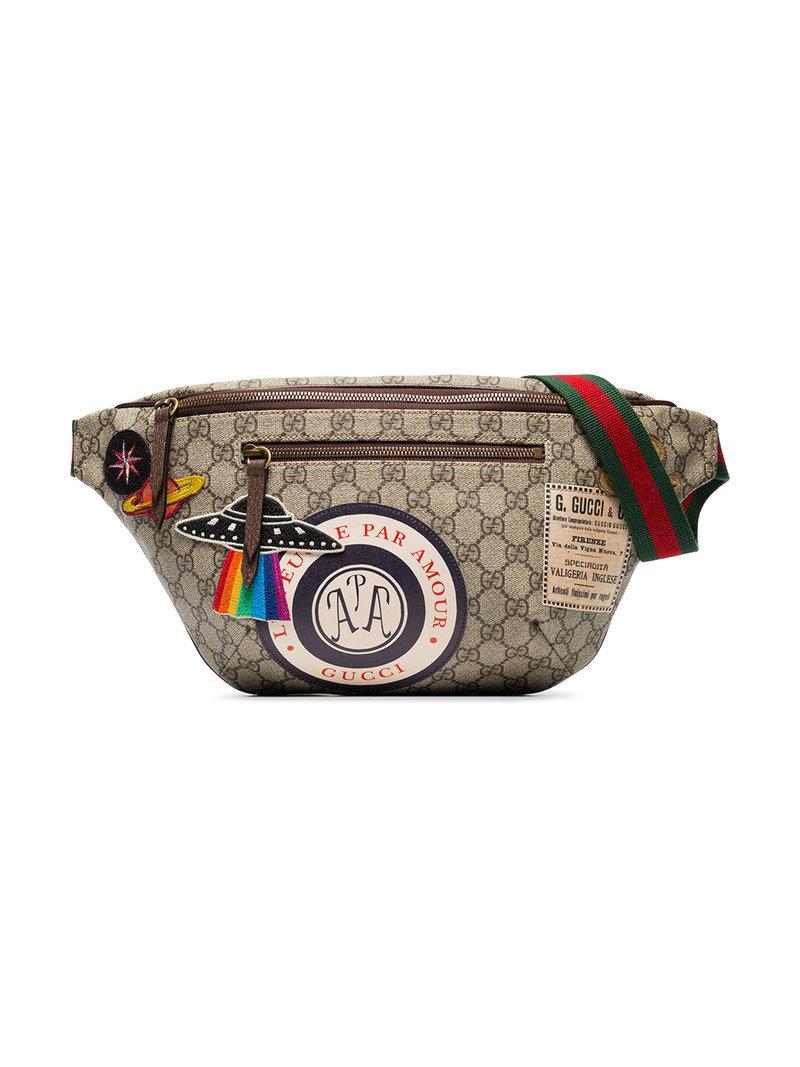 Lyst - Sac banane Courrier Suprême GG Gucci pour homme en coloris Marron faca103a681