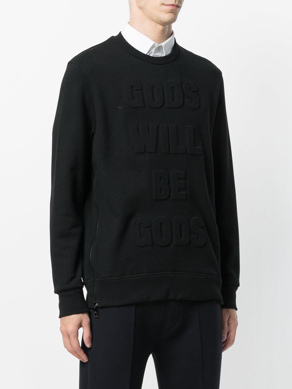 Neil Barrett Katoen Gods Will Be Godstrui in het Zwart voor heren