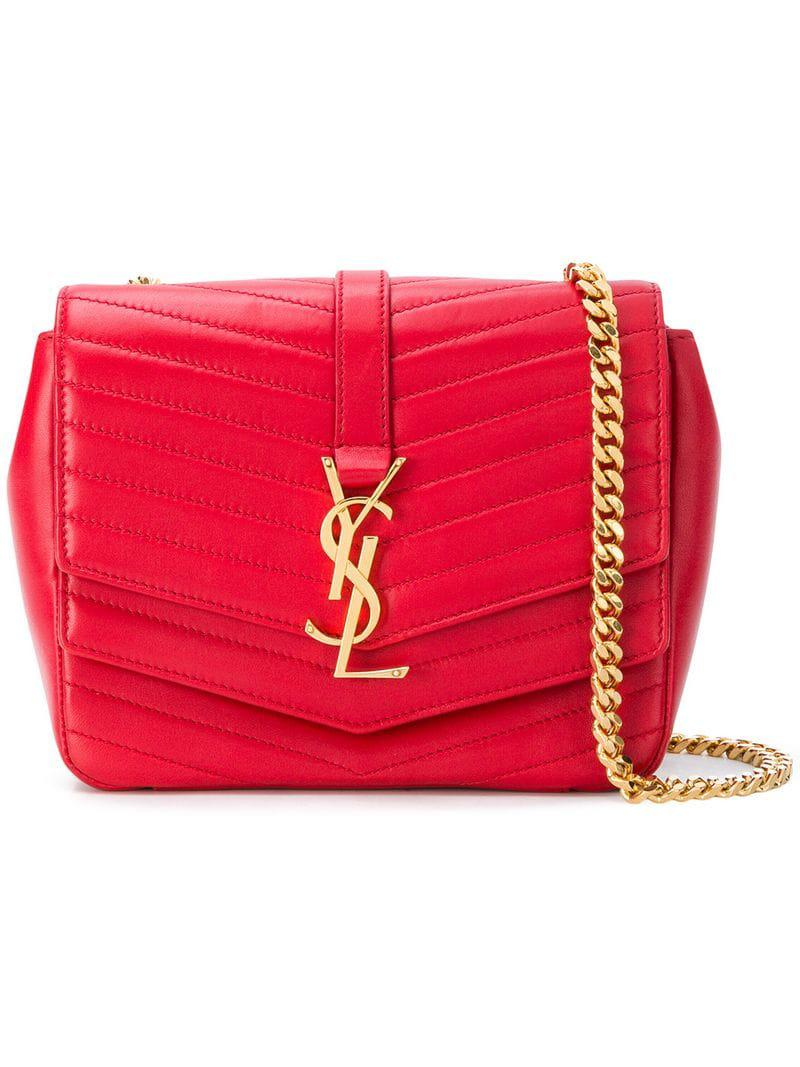 66ccdff1636a Lyst - Saint Laurent Sulpice Shoulder Bag in Red