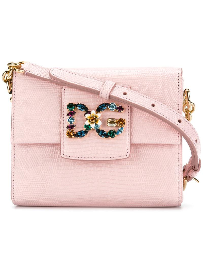DG Millennials mini crossbody bag - Pink & Purple Dolce & Gabbana 7OgzkKpzS