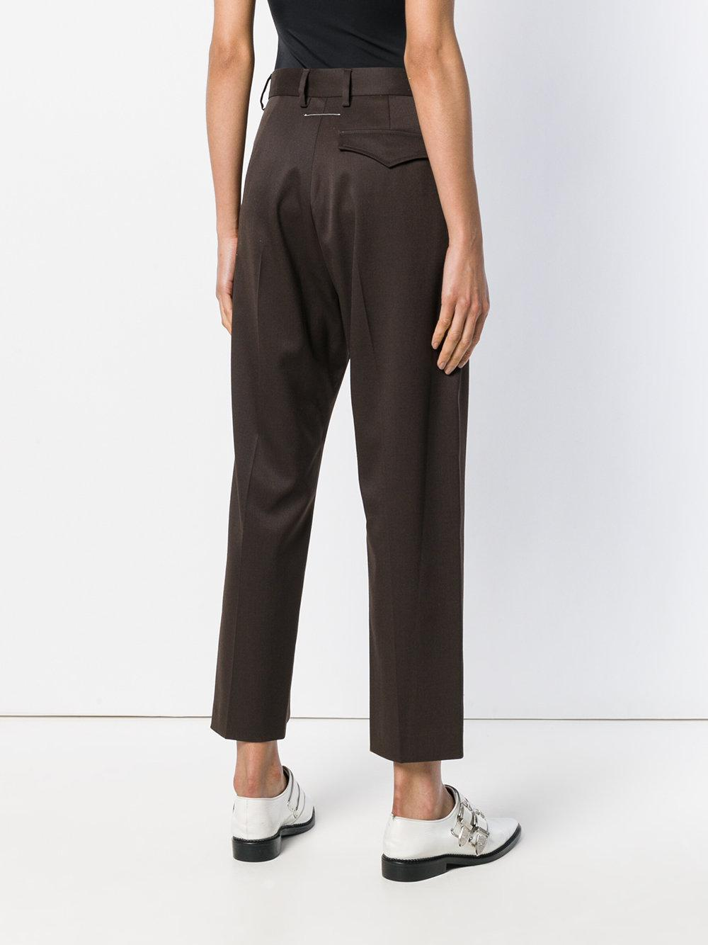 perfectly tailored cropped trousers - Brown Maison Martin Margiela zYD6SjK