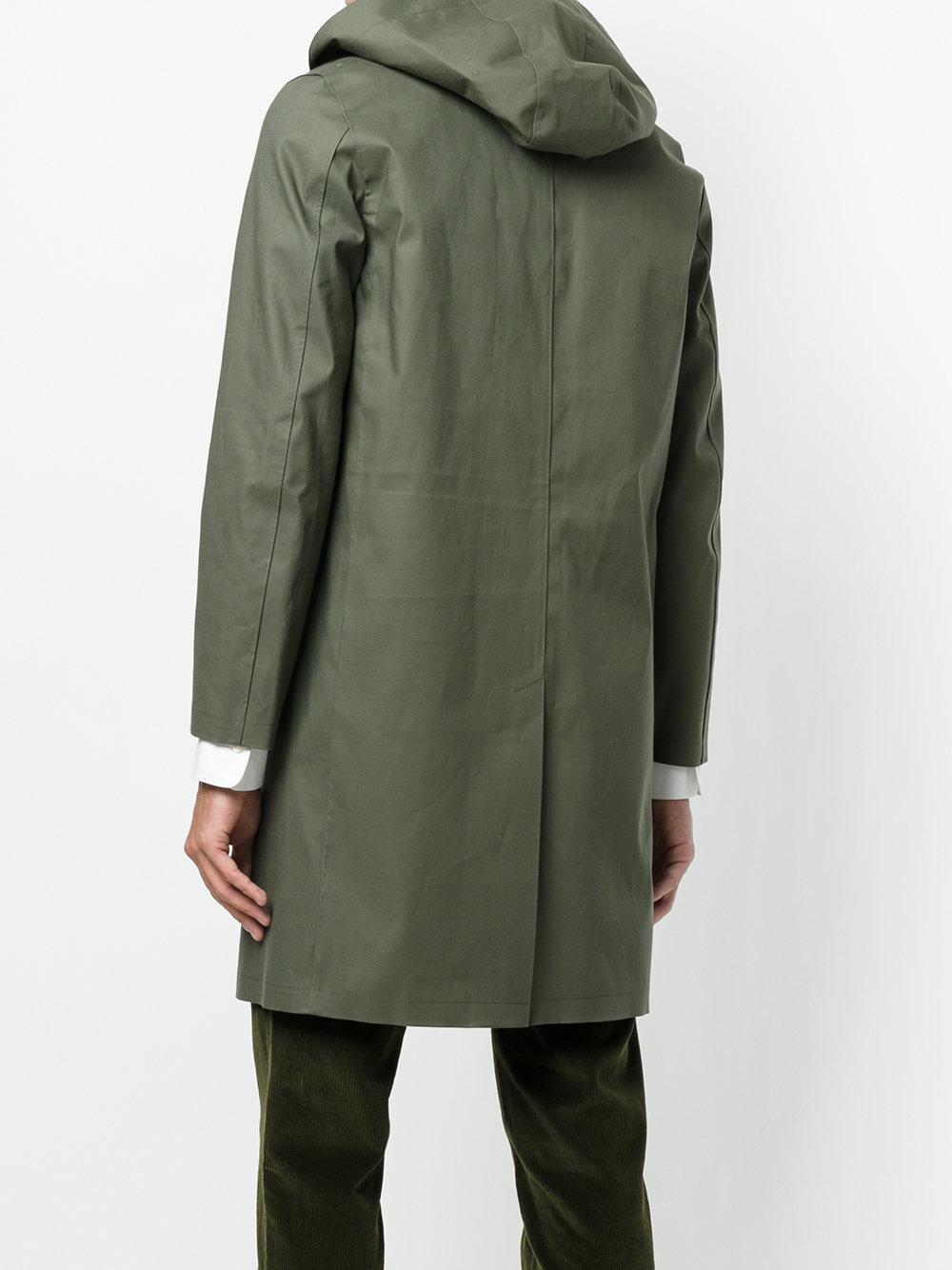 Mackintosh Hooded Raincoat in Green for Men - Lyst