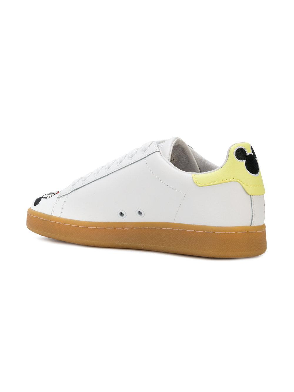 MOA Leather Mickey Honey Sneakers in White