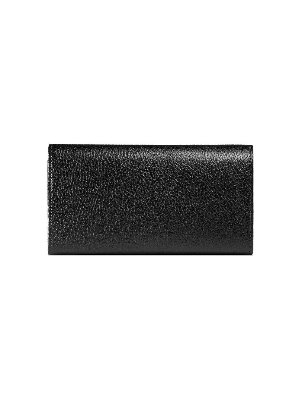 cab8f9be11c6a2 Gucci - Black Farfalla Leather Continental Wallet - Lyst. View fullscreen