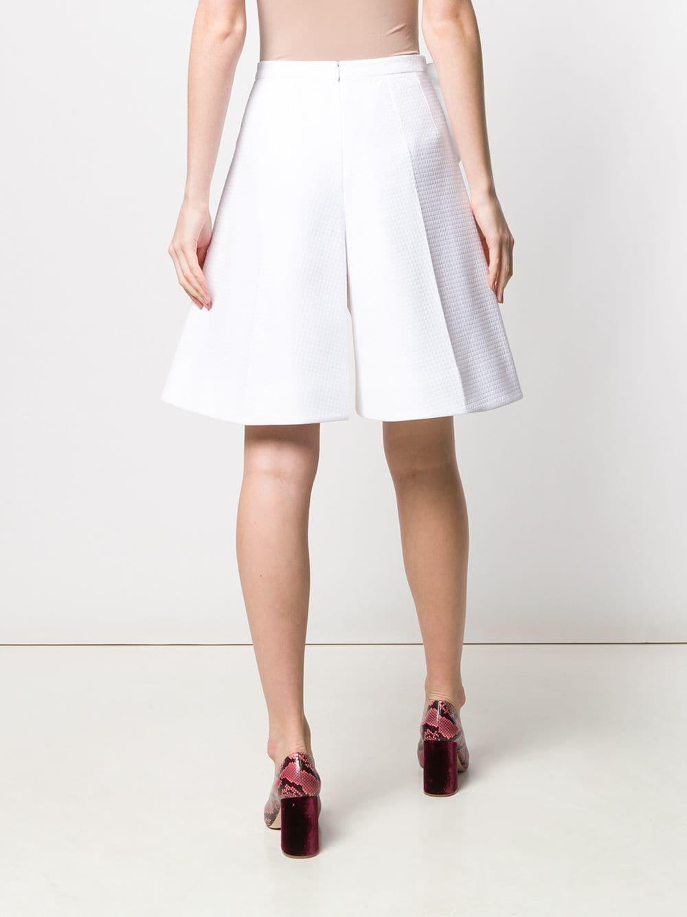 Pantalones cortos con detalles de lazos Delpozo de Algodón de color Blanco