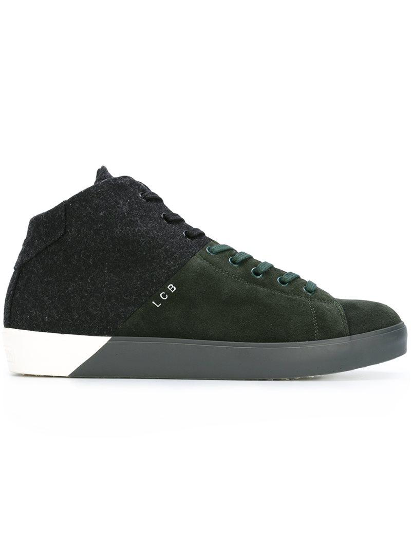 mid top sneakers - Green Leather Crown PeOzR71