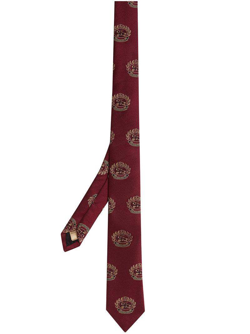 Slim Cut Archive Tie - Red Burberry PGmhfwA