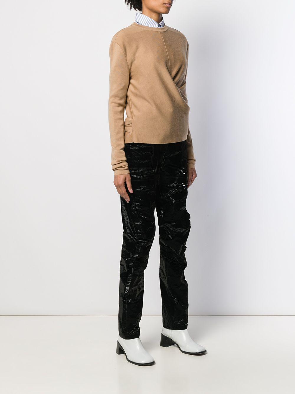 Jersey con lazo en la espalda Mrz de Lana de color Marrón