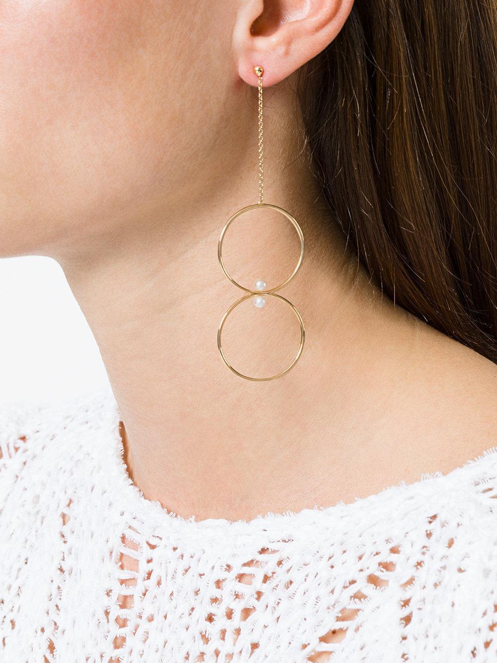 Anissa Kermiche Single Drop Earring in Metallic