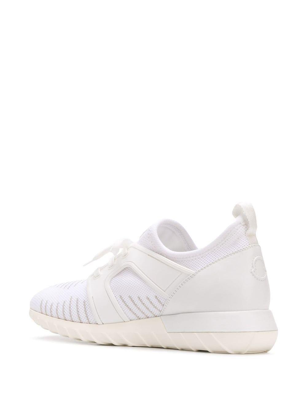 Moncler Rubber Emilien Sneakers Met Veter in het Wit voor heren