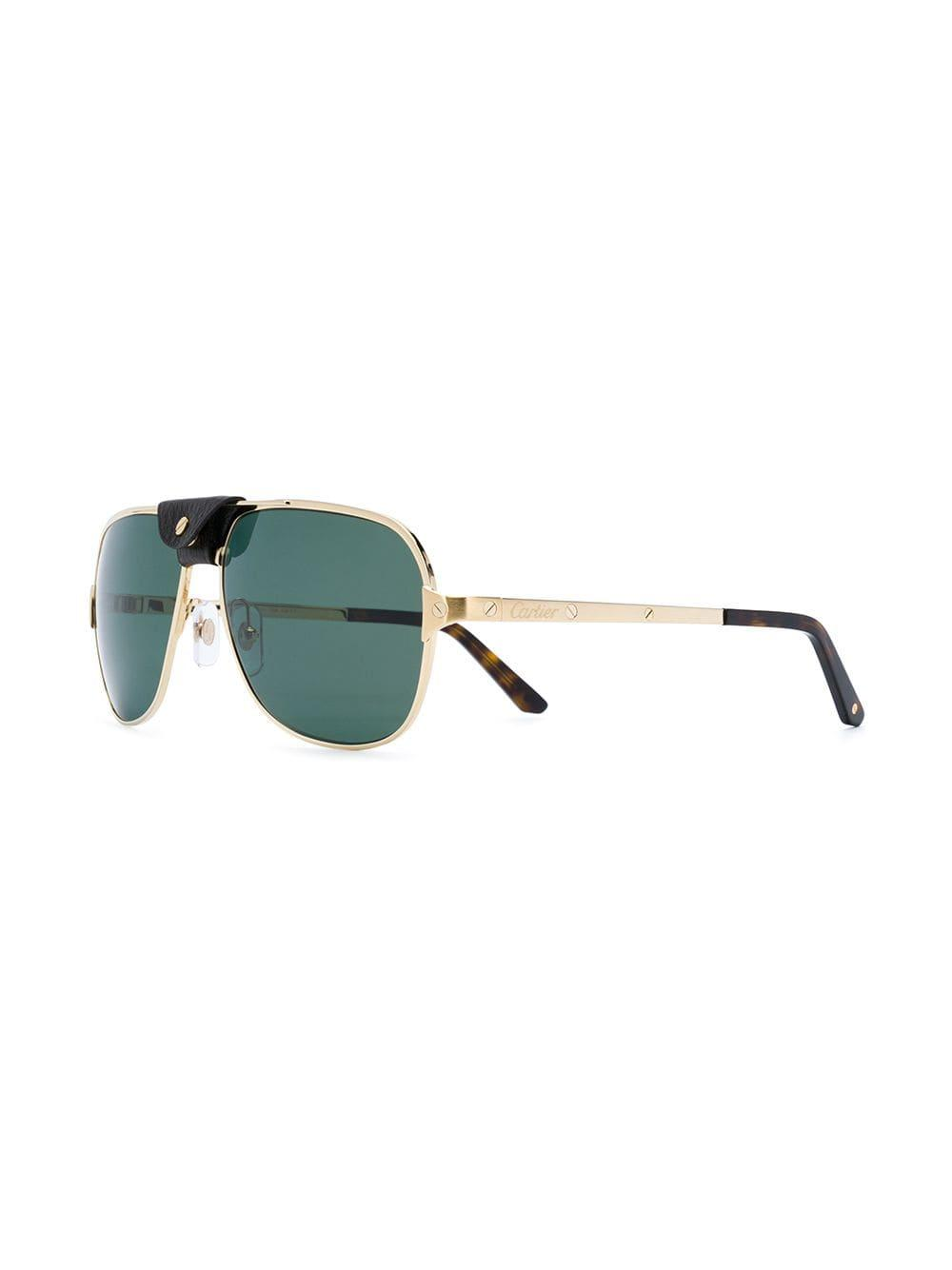 504c60adeb Cartier Santos De Sunglasses in Metallic for Men - Lyst