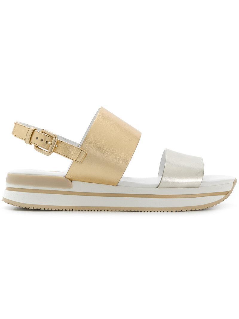 contrast strap sandals - Nude & Neutrals Hogan bdqr8nOZB