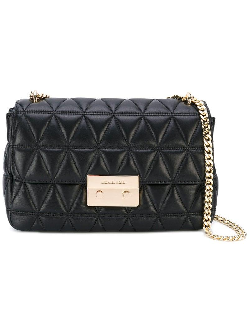 8a206e345eb MICHAEL Michael Kors Sloan Quilted Shoulder Bag in Black - Lyst