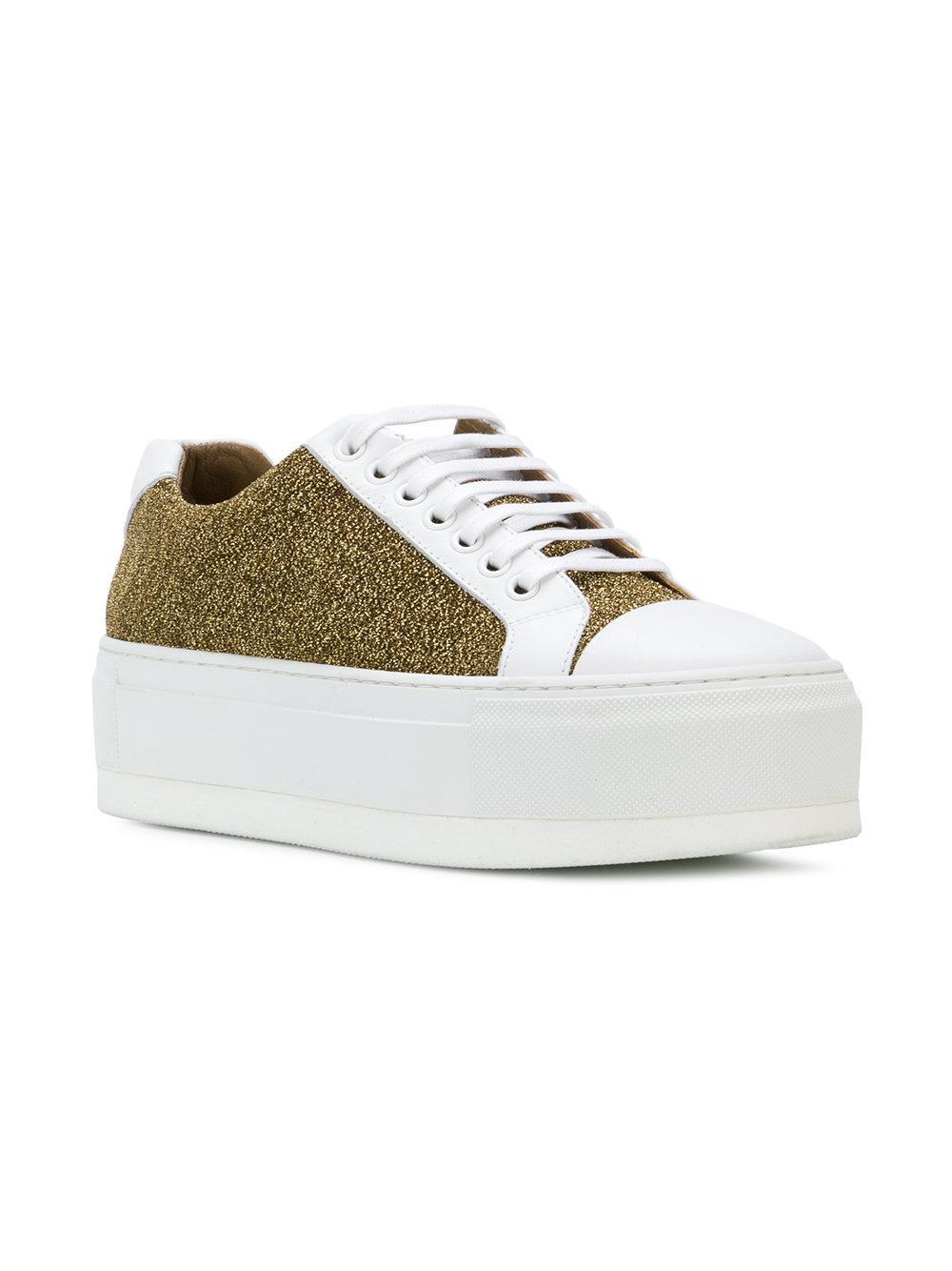 Sonia Rykiel Cotton Lurex Sneakers in Metallic