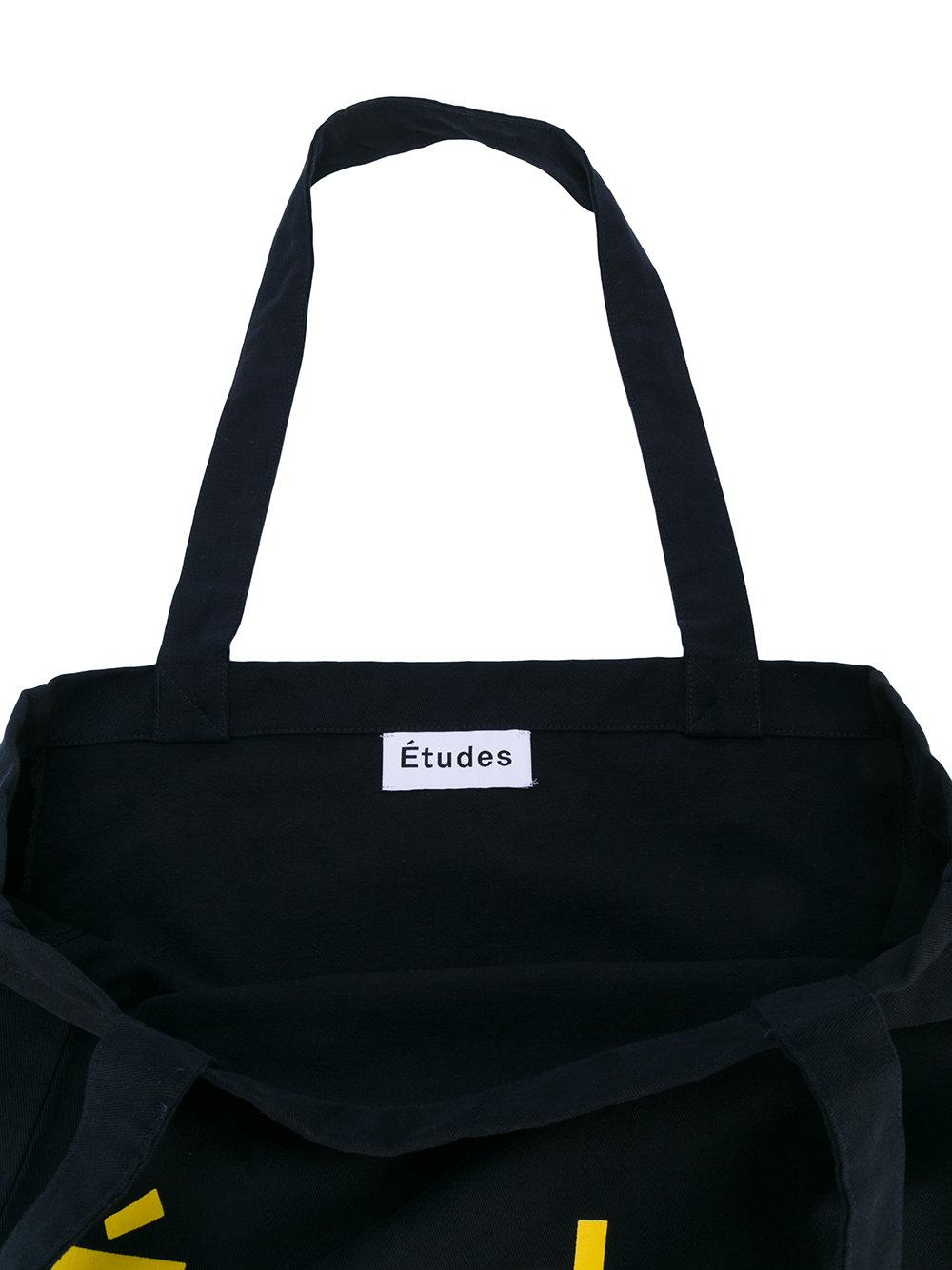 Etudes Studio Cotton Logo Tote Bag in Blue