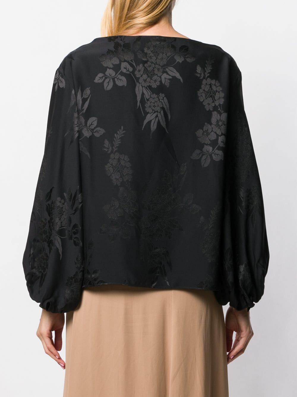 Blusa holgada Etro de Tejido sintético de color Negro