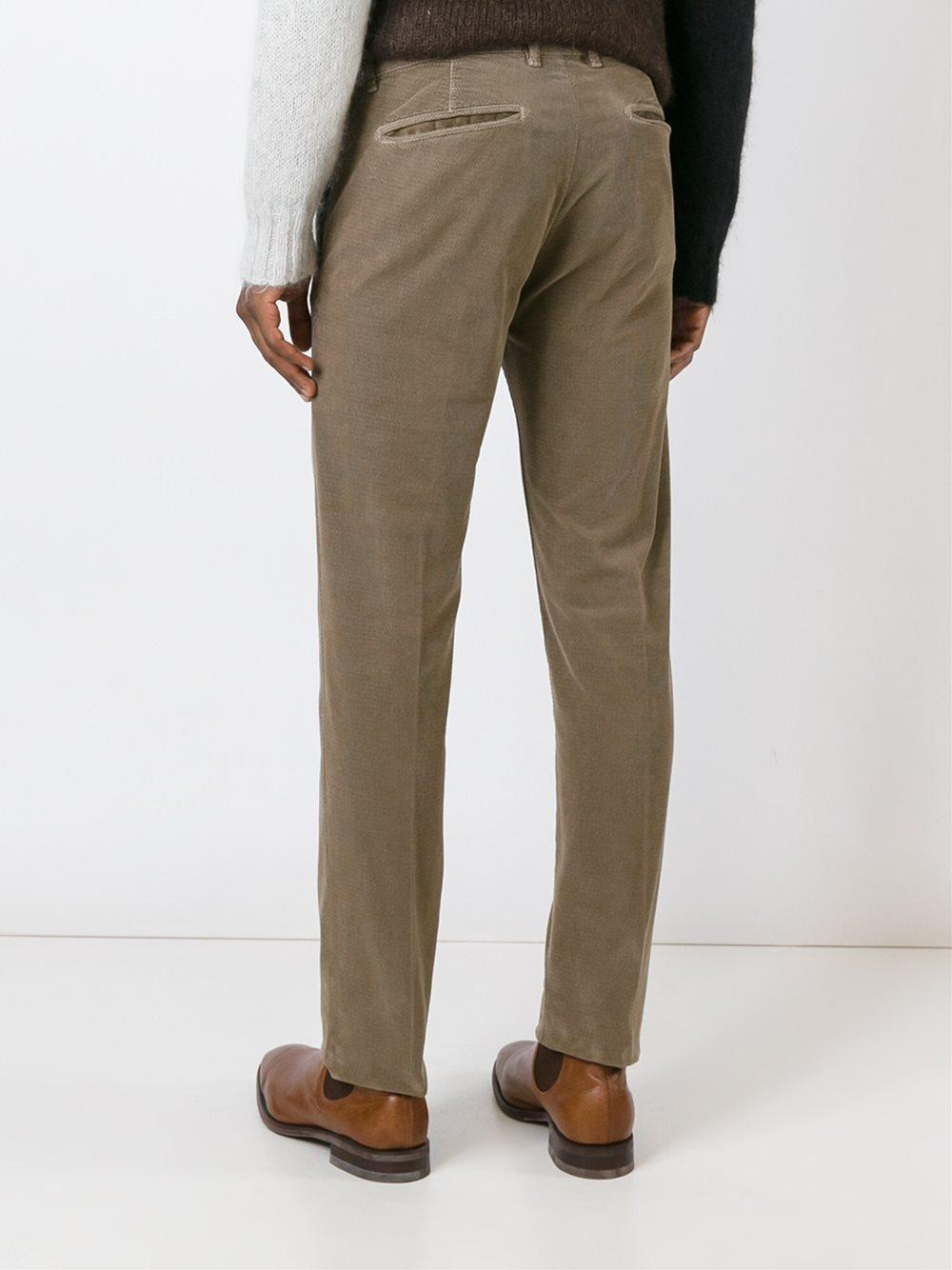 Massimo Alba Cotton 'winch' Trousers in Natural for Men