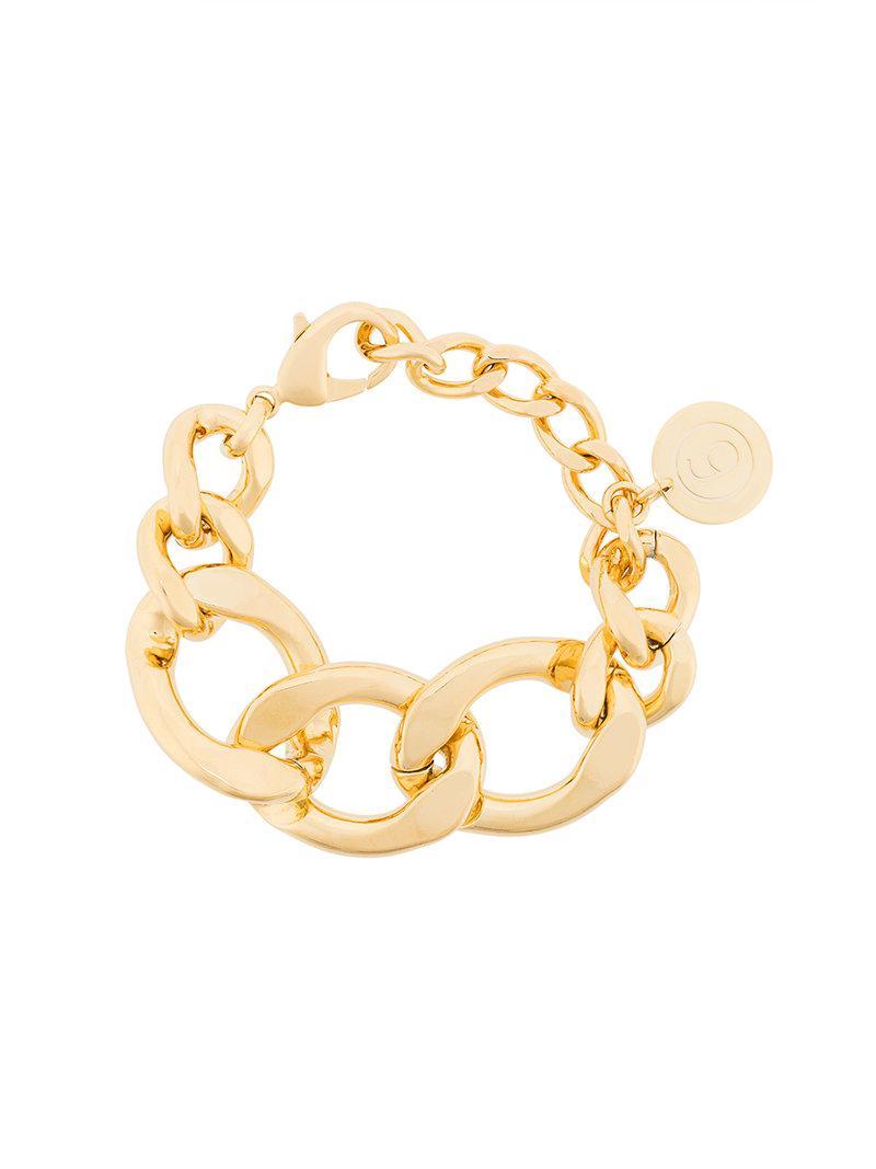 Maison Martin Margiela oversized cable chain bracelet - Metallic NtzBgPJq