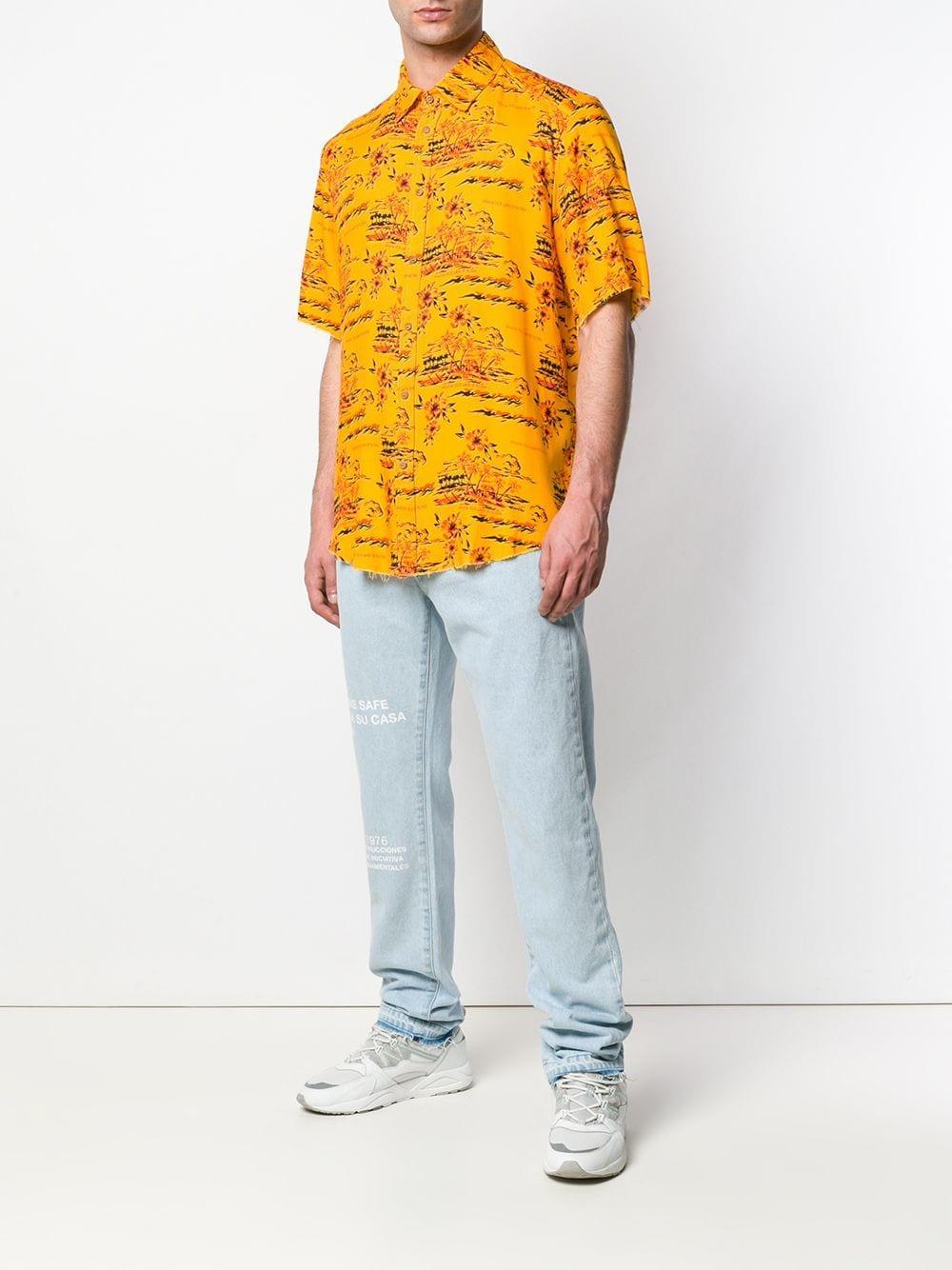 d8d9d4092 Lyst - Mauna Kea Tropical Print Shirt in Orange for Men