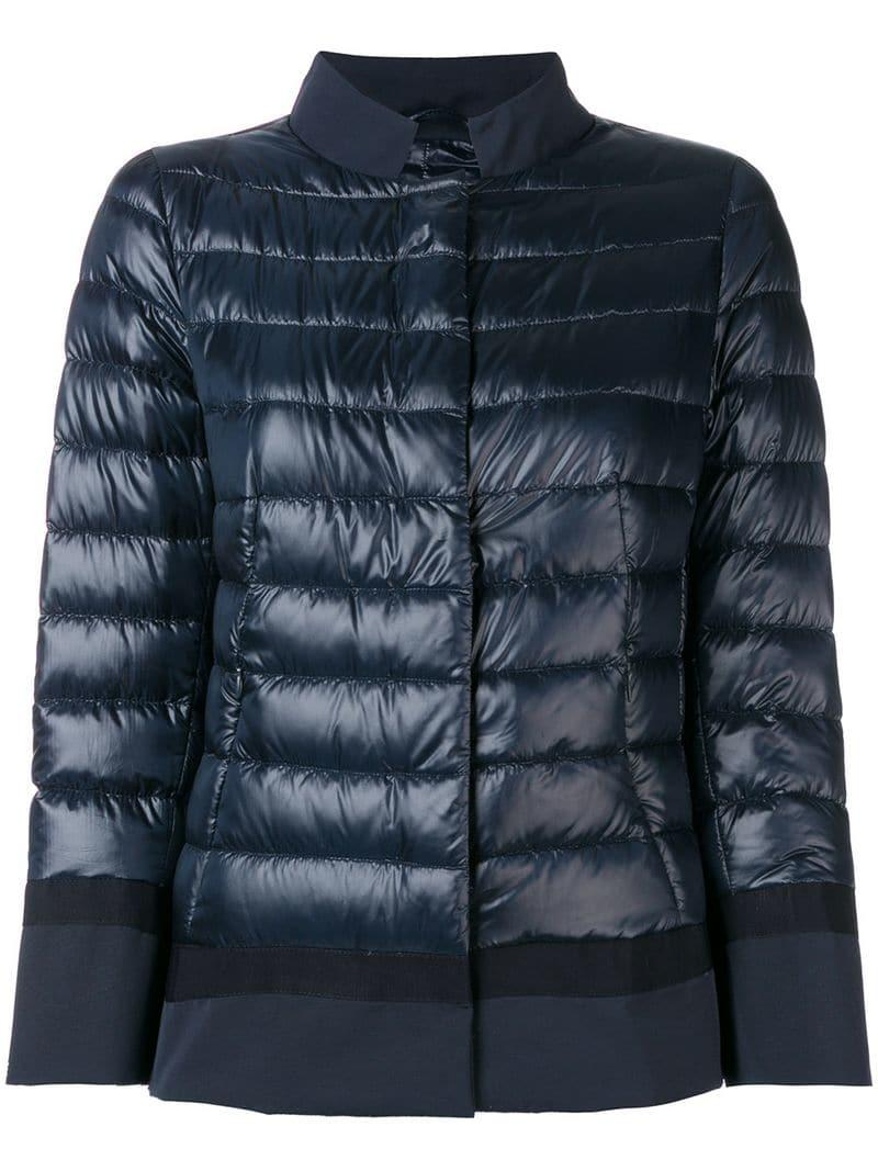 d595efff253 Lyst - Herno Feather Down Padded Jacket in Blue