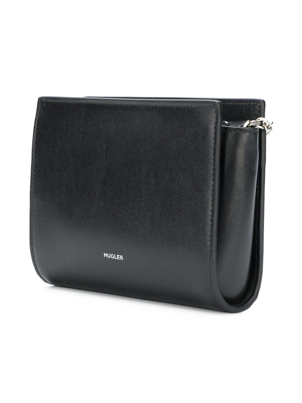 abb9986300f03 Lyst - Mugler Ring Detail Shoulder Bag in Black