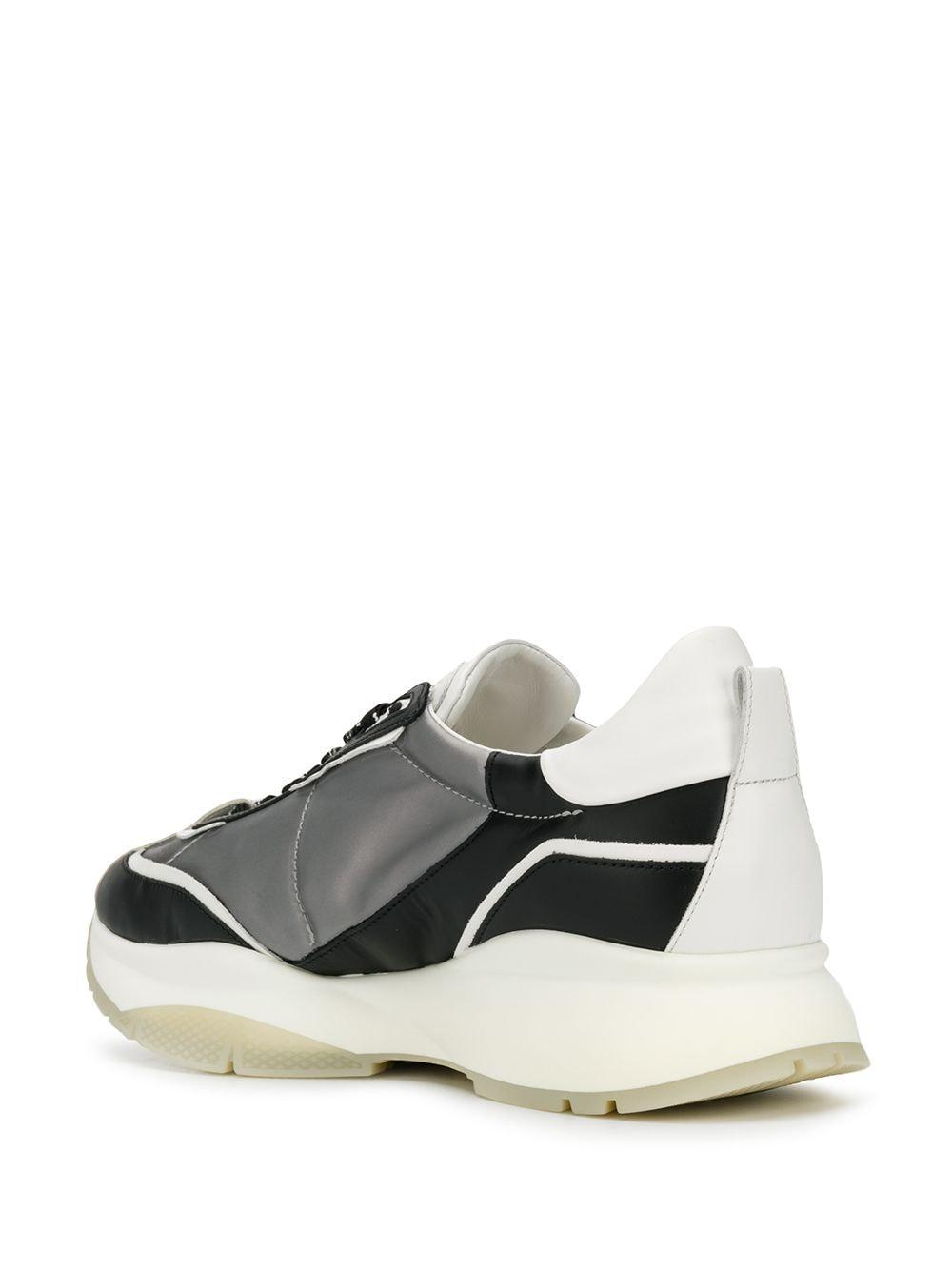 Jimmy Choo Leer Raine Low-top Sneakers in het Grijs voor heren