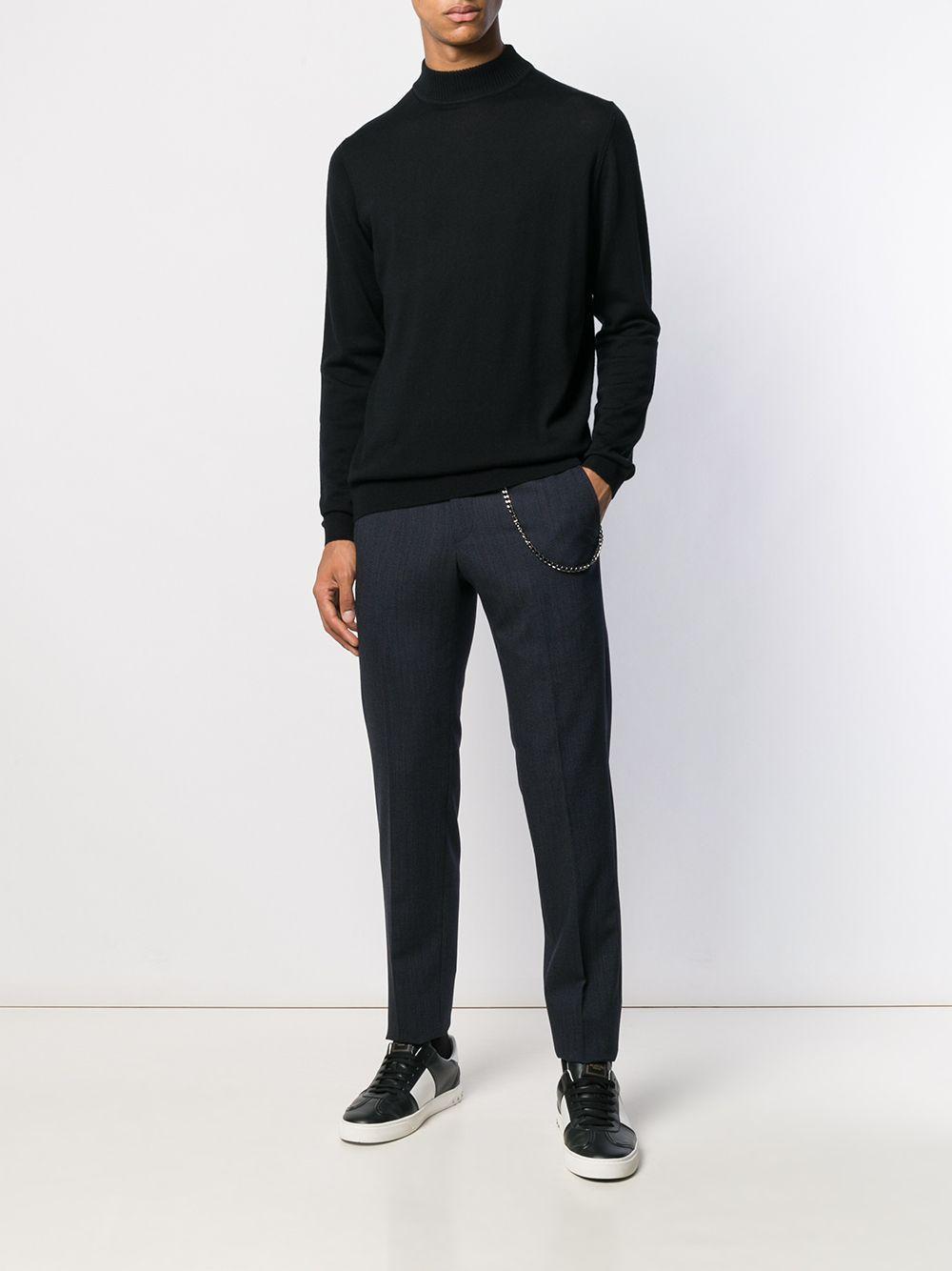 Karl Lagerfeld Wol Broek Met Ketting Detail in het Blauw voor heren