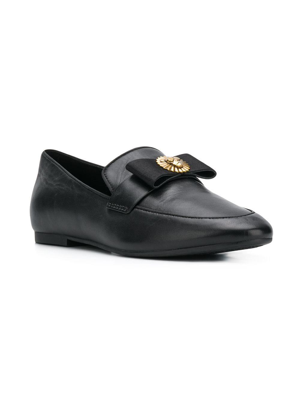 9bd4f461e58 MICHAEL Michael Kors - Black Flat Bow Loafers - Lyst. View fullscreen
