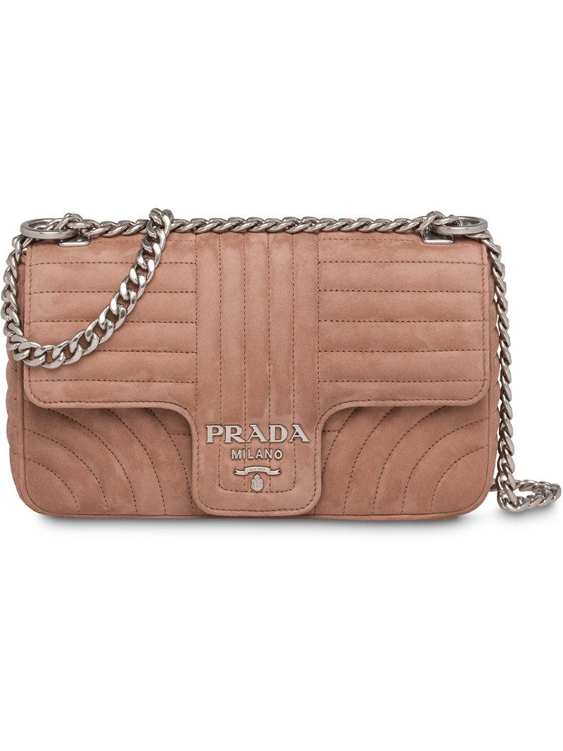 Prada Diagramme Shoulder Bag in Pink - Lyst c5d8e952fd4aa