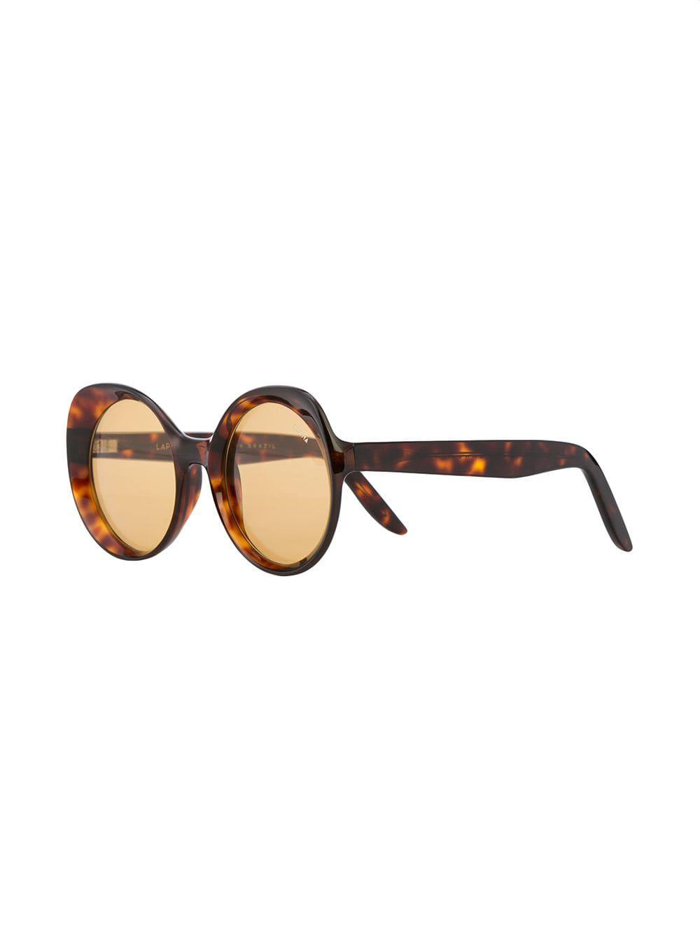 3e71afb398 Lapima - Brown Round Frame Sunglasses - Lyst. View fullscreen