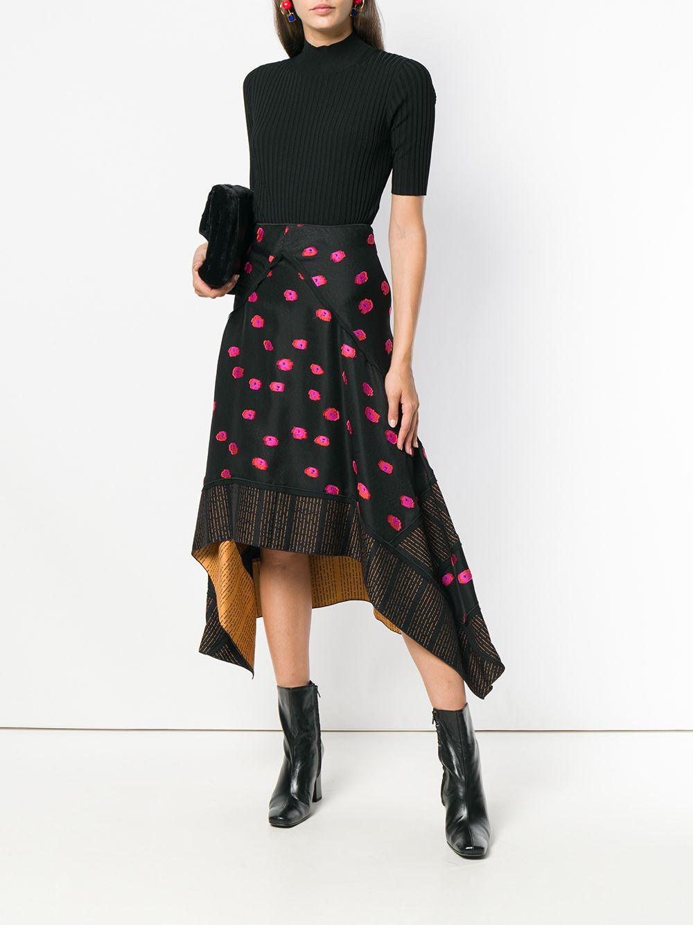 Diane von Furstenberg Synthetic Turtleneck Rib Top in Black
