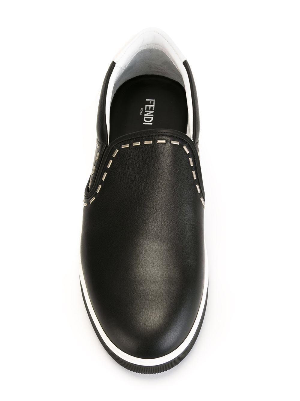 metallic trim oxford shoes - Black Fendi OiviElLsng
