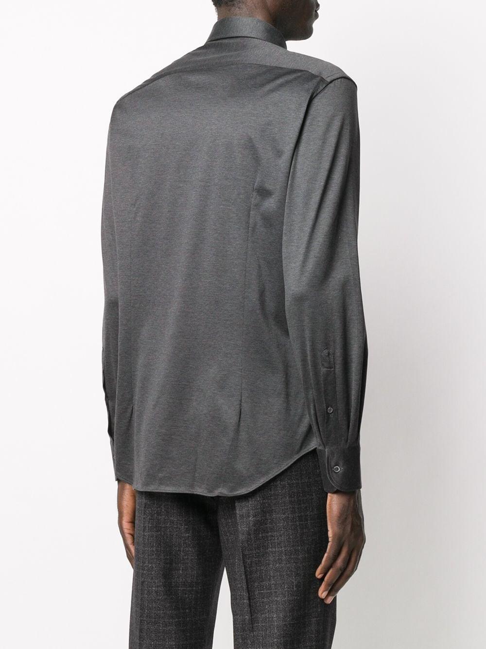Corneliani Fijngebreid Overhemd in het Grijs voor heren