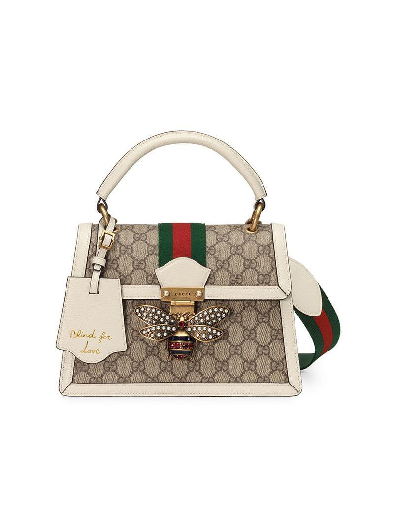 152c381f4 Gucci Queen Margaret Small GG Top Handle Bag - Save 11% - Lyst