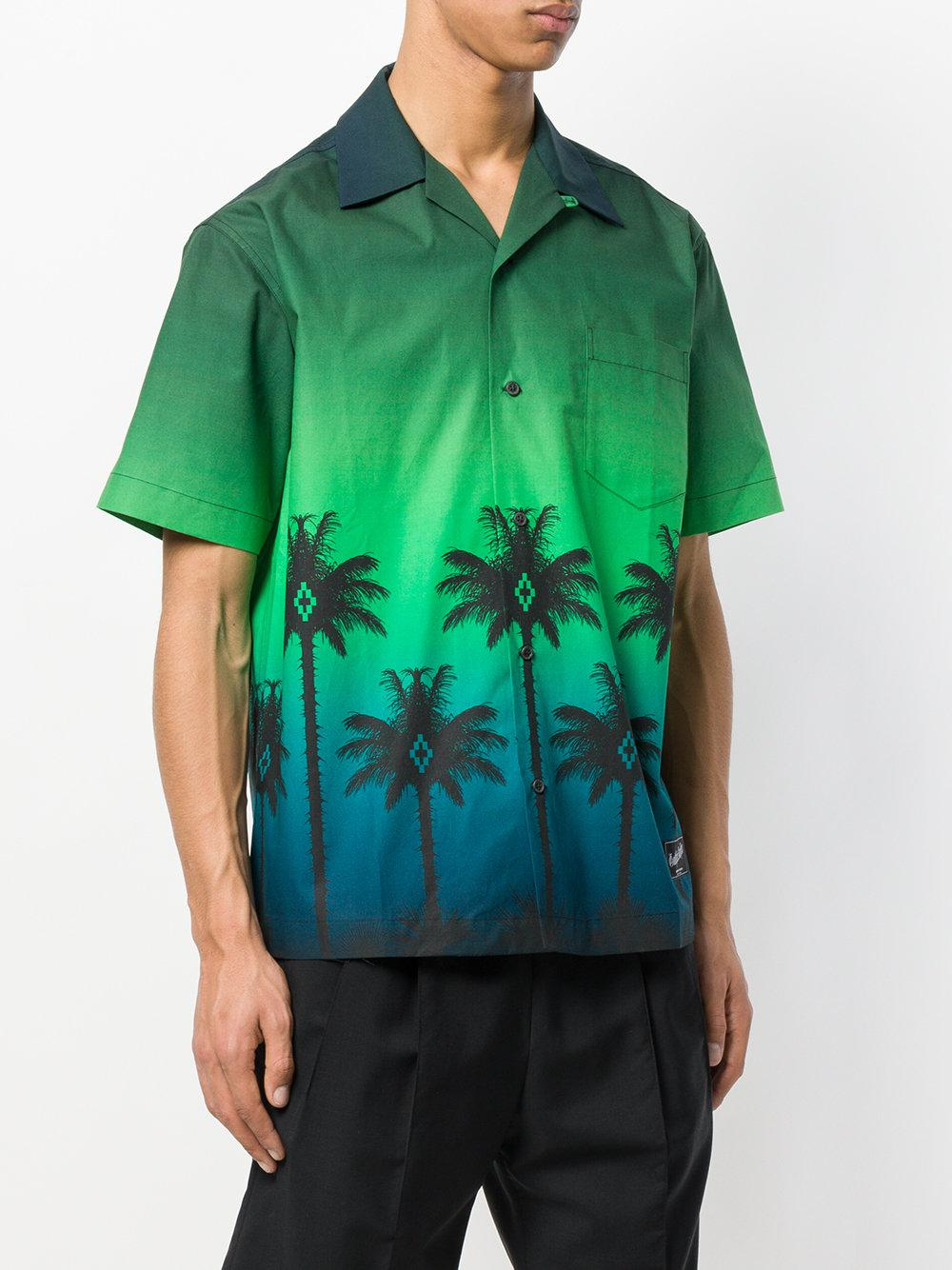 Marcelo Burlon Cotton Palms Shirt in Green for Men