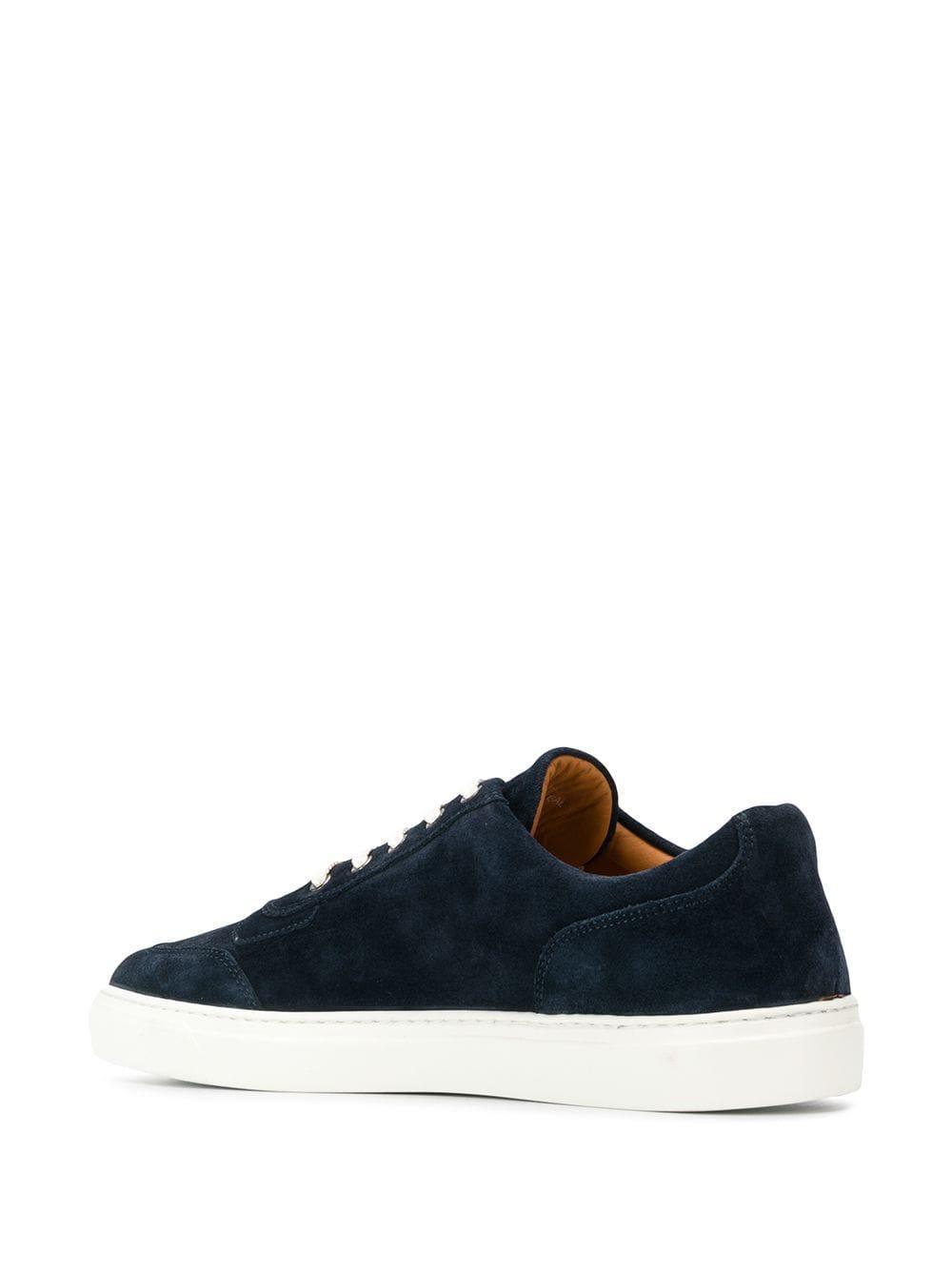 Harry's Of London Suède Nimble Low-top Sneakers in het Blauw voor heren