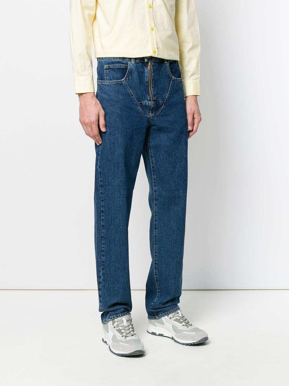 Martine Rose Denim Jock Strap Jeans in Blue for Men