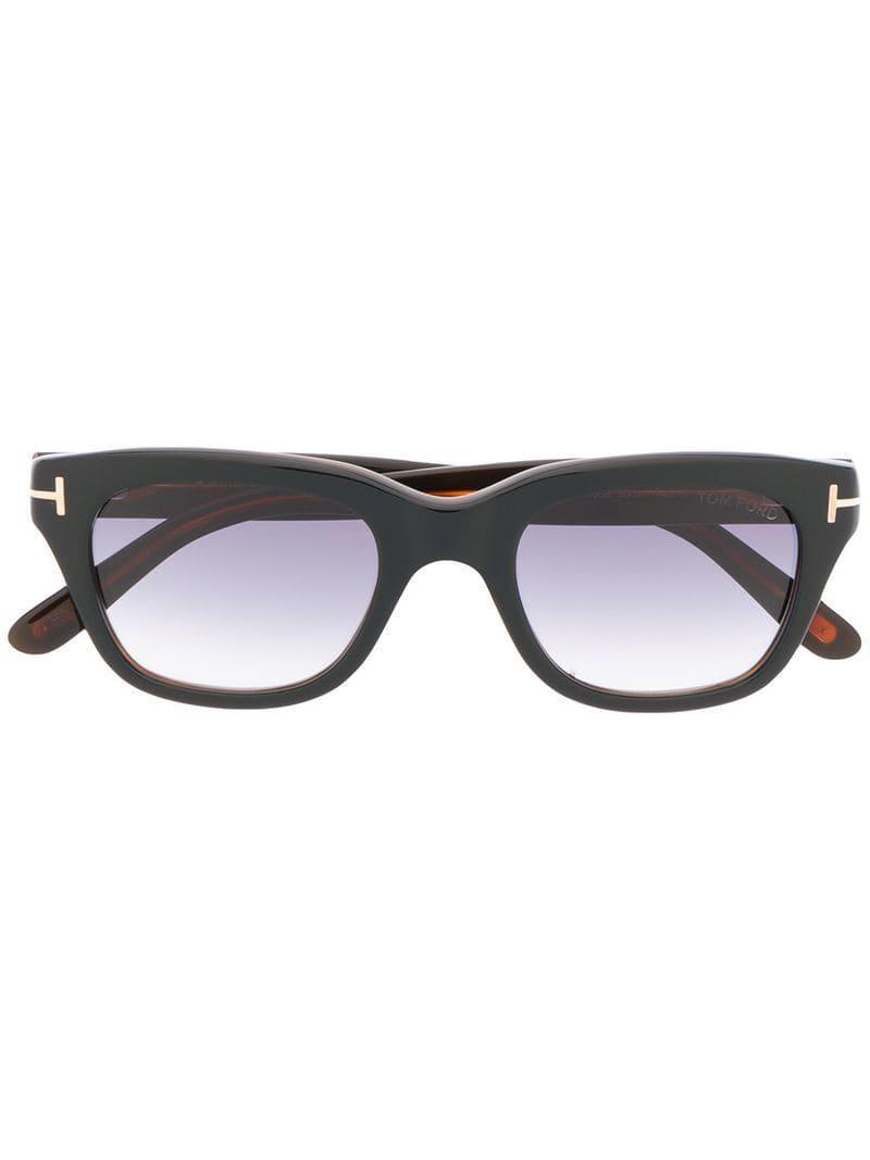 4f5a29e2e2df Lyst - Tom Ford Snowdon Sunglasses in Black