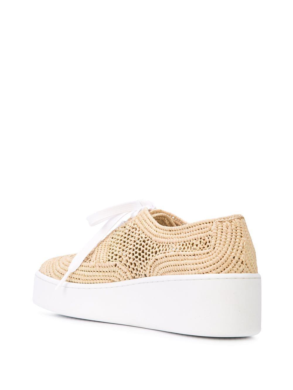 Zapatillas de plataforma tejidas Clergerie de Cuero de color Blanco