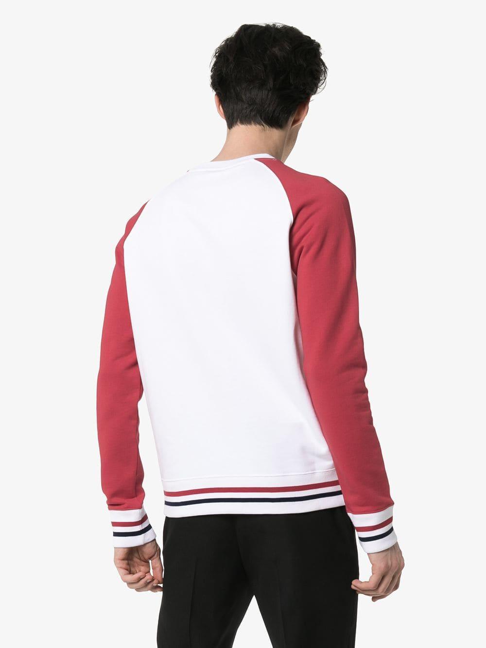 Balmain Sweater Met Contrasterende Mouwen in het Wit voor heren